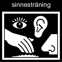 Pictogram: Sinnesträning